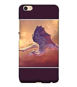 Takkloo flying horse white horse,big flying wings, flying in the sky, giant bird) Printed Designer Back Case Cover for Vivo Y55L