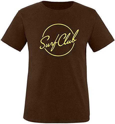 EZYshirt® Surfclub Herren Rundhals T-Shirt Braun/Gelb