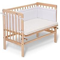 fabimax Emily – Cama Basic Natural, incluye colchón y protector de cuna