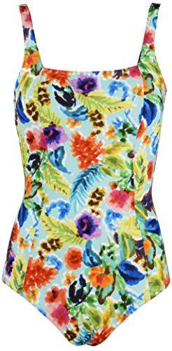 Red point beachwear, donna, costume intero, scollatura quadrata foam, omis, taglia it: 4b, multicolore