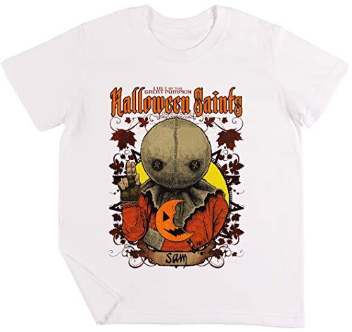 Halloween Saints Sam Kinder Jungen Mädchen Unisex T-Shirt Weiß