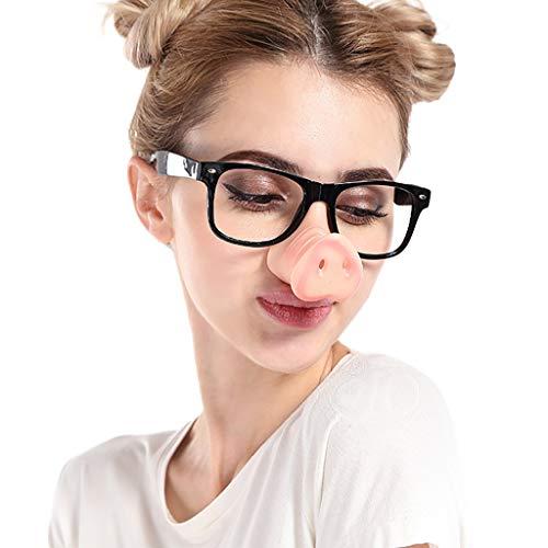 REALIKE Unisex Männer und Frauen Mix 3 Colors Lustige Halloween Schwein Nase Sonnenbrille Fancy...