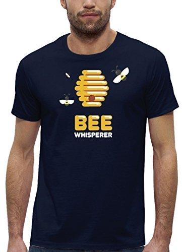Imker Premium Herren T-Shirt aus Bio Baumwolle Bee Whisperer Stanley Stella Navy