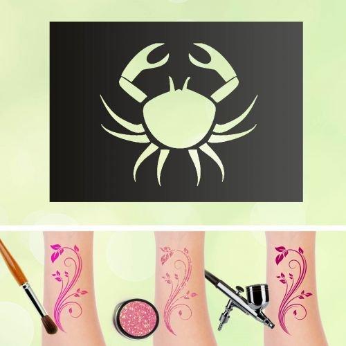 Tattoo stencil cancro segno zodiacale autoadesivo kinders chminken aerografo