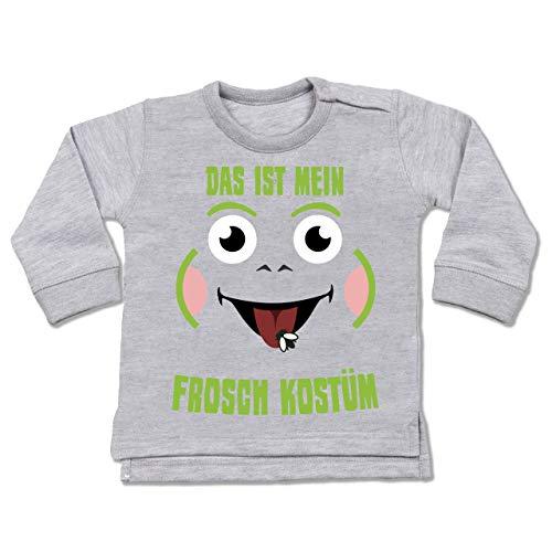 Shirtracer Karneval und Fasching Baby - Das ist Mein Frosch Kostüm - 12-18 Monate - Grau meliert - BZ31 - Baby ()