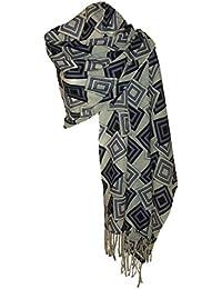 Etole Echarpe en Laine Fine- Différentes couleurs, Noir, Taille Unique
