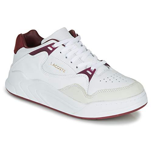 Lacoste Damen Court Slam 319 1 SFA Sneaker, Weiß (Wht/Dk Red 1y8), 37 EU