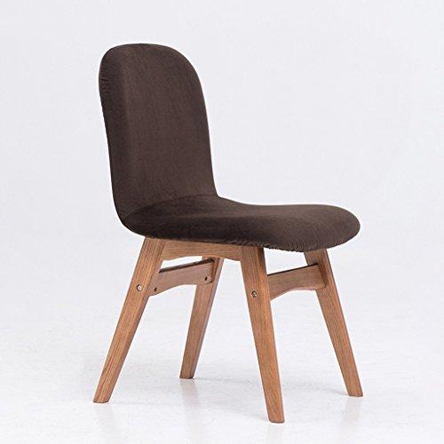 Wanli shopping mall sedia da pranzo sedia moderna in legno massello sedia da pranzo confortevole sedia da scrivania in tessuto per il tempo libero (colore : e)