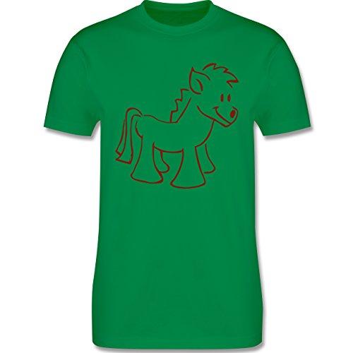 Pferde - Pony - Herren Premium T-Shirt Grün