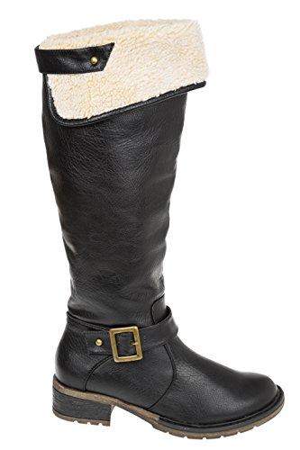 GIBRA® Femme Bottes, chaud doublés Noir Taille 36–41 Noir - Noir