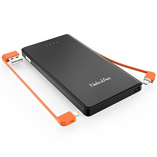 Batterie-power-kabel (NebulAcc 10400mAh Powerbank mit integriertem Lightning & Micro USB 2 in 1 Kabel Externer Akku Pack Schnell Wiederaufladbar Power Bank Kepler Ladegerät für iPhone, iPad, Huawei, Samsung Galaxy)