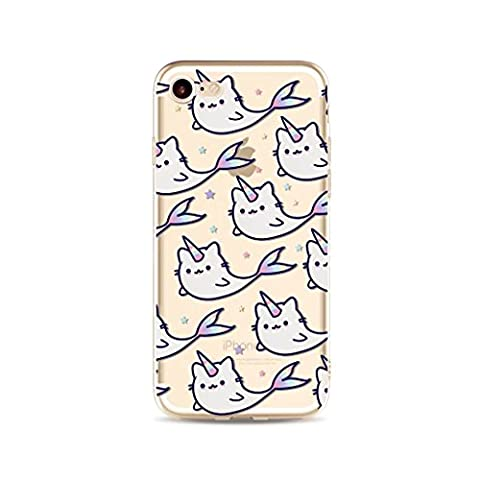 iPhone 7 MUTOUREN case cover?Ultra Thin Gel case Anti-scratch Rear Case Pouch Bumper Transparent Protective anti-shock anti-scratch Case- unicorn