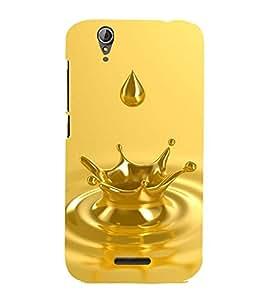 GOLDEN WATER DROP CAPTURED IN A PIC 3D Hard Polycarbonate Designer Back Case Cover for Acer Liquid Z630::Acer Liquid Z630S