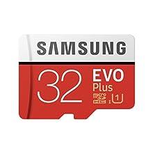 Samsung MB-MC32GA/EU Carte mémoire microSDHC Pro Plus 64 Go UHS Classe de Vitesse 3, Classe 10 pour Action Cam, smartphone et tablette avec adaptateur SD (modèle 2017) EVO Plus 32 Go Rouge/Blanc