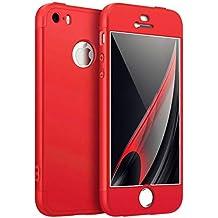 Coque iPhone 5 5S SE Étui 360°Housse de protection PC Hard Shell 7683c37de15