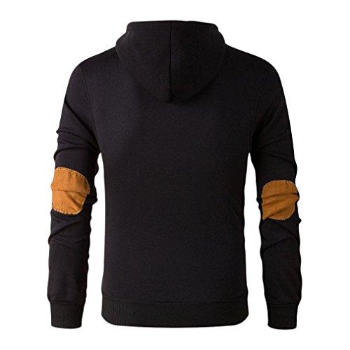 Tonsee® Automne Et même le capuchon de pull d'hiver Hommes Noir