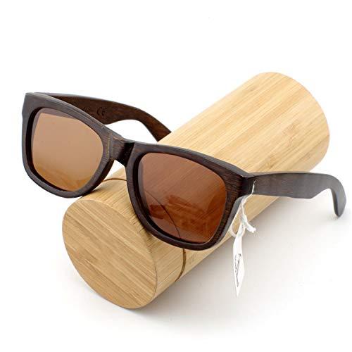 AOCCK Sonnenbrillen,Brillen, Ebony Wooden Male Lady Sunglasses Men's Luxury Brand Designer Polarized Sun Glasses Vintage Sunglass Women Eyewear brown