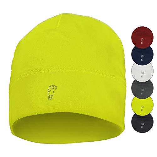 ALPIDEX Gorro Running Invierno Gorro Correr Deporte Caliente Hombre Mujer, Color:Neon Yellow