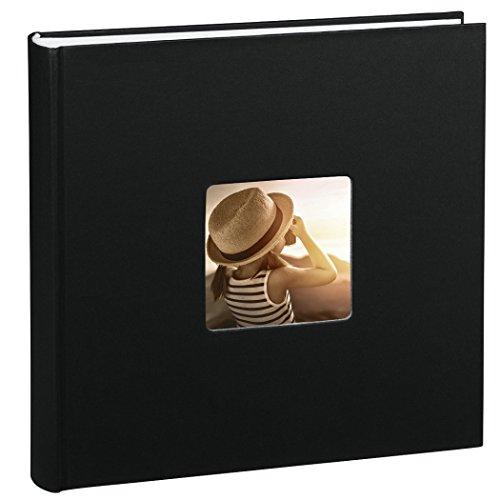 Jumbo Fotoalbum Fine Art (30 x 30 cm, 100 Seiten, 50 Blatt, mit Ausschnitt für Bildeinschub) schwarz