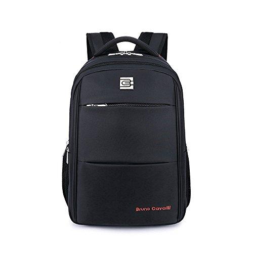 Imagen de evay 35l 15,6 pulgadas portátil  para los hombres y las mujeres , duradero resistente al desgarro impermeable  de hasta 17 pulgadas del ordenador portátil de viaje  backpack 49 * 35 * 18 cm negro