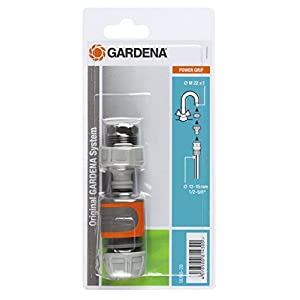 "GARDENA Rapid Connection Set: Tap connection set for quickly connecting 13 mm (1/2"") and 15 mm (5/8"") water hoses (18285-20)"