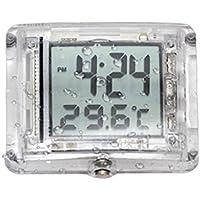 B Blesiya Temperatura del Reloj del Reloj Digital De La Motocicleta Luminosa De Destello para La Bicicleta De La Moto