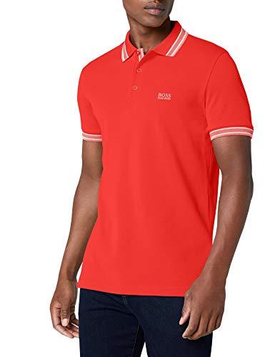 BOSS Athleisure Herren Paddy Poloshirt, per Pack Rot (Open Red 645), Large (Herstellergröße: L) - Strukturierte Langarm-polo-shirt