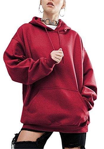 963fe8803b Blansdi Damen Mädchen Frauen Frühling Herbst Beiläufig Lose Basic Hoodies  Kapuzenpullover Langarm Jacke Pullover Top Sweatshirt