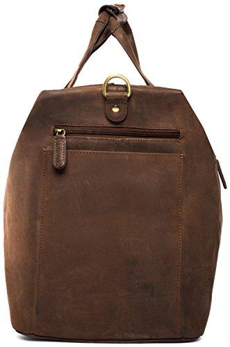 LEABAGS Sydney Reisetasche aus echtem Büffel-Leder im Vintage Look - SugarCane Muskat