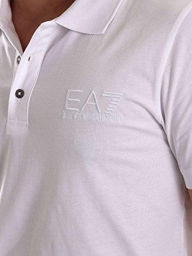 EA7 EMPORIO ARMANI Shirt Polohemd Poloshirt Polo weiss 8NPF01 PJ48Z 1100 bianco HW16 Bianco