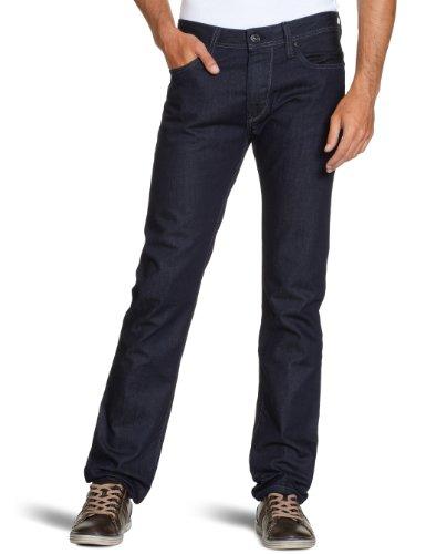Salsa Herren Jeans 911008350110674A, Tapered Fit (Karotte) Blau (A)
