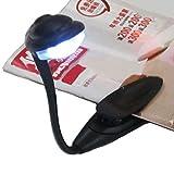 FAVOLOOK Mini-Leselampe, flexibel, über USB wiederaufladbar und Augenpflege-Leselicht, tragbare Reisebuch-Lampe Nachtlicht, schwarz