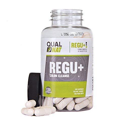 Qualnat Detox 100% natural a base de plantas de aloe vera - Suplemento alimenticio para combatir el estreñimiento - Desintoxica y limpia el organismo ayudando a perder peso - 120 cápsulas