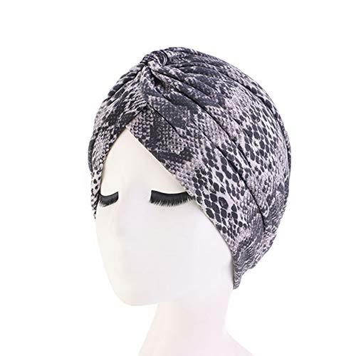 CHIRORO Damen Kopftuch Baumwolle Ethnic Drucken Turban Hut Muslimischer Bandana Chemo Cap Stirnband Schal Headwrap Kopfbedeckung Für Krebs, Haarausfall, Schlaf, Schlange