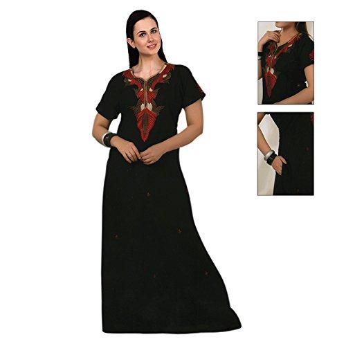 The Arancione Tag Donna Camicia Lunga 100% cotone Sottoveste ricamo dettagliate Size 14–22 Back