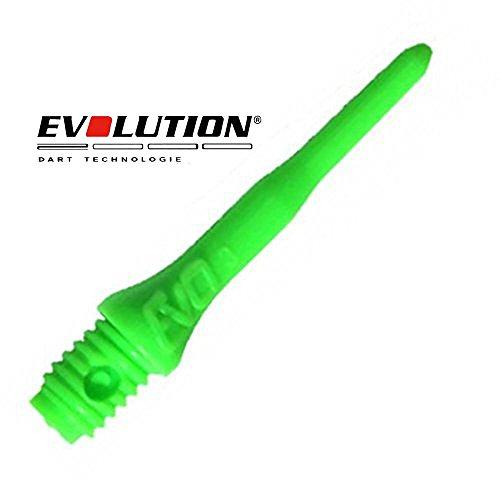 Evolution Evo Dartspitzen, 2BA, 100 Stück, Neon-Grün
