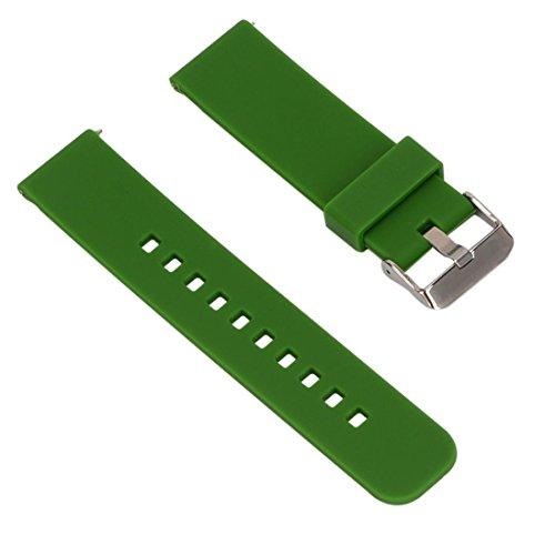 Armbanduhr Band Ersatz, happytop 22mm Silica Gel Armband Handgelenk Bands für Garmin Fenix Chronos GPS-Uhr S grün -