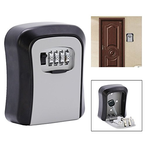 HJ® Schlüsseltresor Schlüsselsafe Übergabe Safe Schlüsselbox mit Zahlenschloss Lock