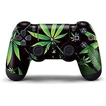 247Skins - Sticker de Protection pour Manette PS4 Playstation 4 Sony - Weeds Black