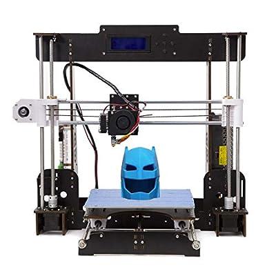Tigtak A8 3D Drucker Prusa I3 3D Printer DIY 3D-Drucker Kit Upgradest High Precision Selbstbauen 3D Drucker mit LCD Bildschirm