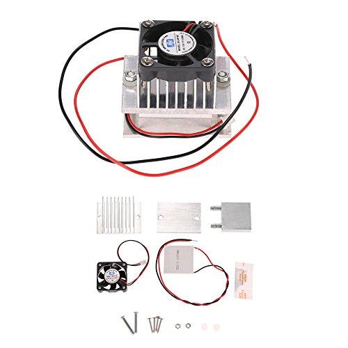 KKmoon DIY Kit Rfroidisseur Peltier Thermoélectrique, Système de Refroidissement, Module de Conduction de Dissipateur Thermique + Ventilateur + TEC1-12706