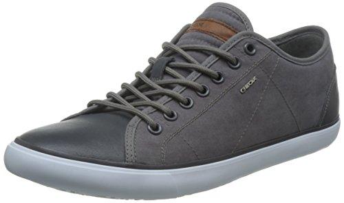 Geox U Smart C, Sneakers Basses Homme Gris (Anthracitec9004)