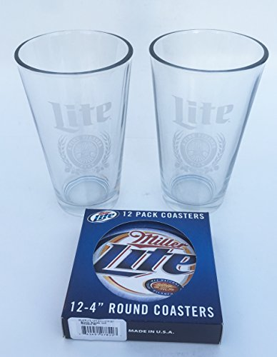 miller-lite-pint-glasses-and-coasters-set-by-realtree