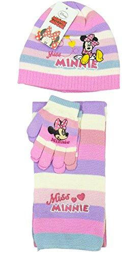 Disney - Ensemble bonnet, écharpe et gants - Fille Rose