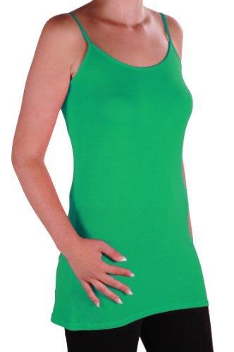 EyeCatch TM - Débardeur long a fine bretelles grandes taille - Angelique - Femme Jade Vert
