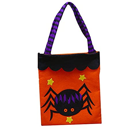 FUNDIY Halloween Tote Bags Childrens Kids Gift Party Loot Trick Treats Sweets Candy Present Sack Halloween Props