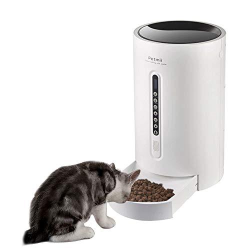 Automatischer Futterautomat Smart Food Dispenser für Hunde Katzen Kleintiere - Verteilungsalarme, Portionskontrolle und Sprachaufzeichnung, 4-Mahlzeiten-Automatik mit programmierbarem Timer