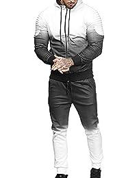 e0d56ccd8c6 Top Camouflage Slim Fit Survetement Homme Ensemble Tenue de Sport 2 Pièces  Sweat Capuche+Pantalon