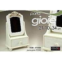 Comparador de precios Joyero Joyero Joyas Scrigno C/Espejo 21x 10x 34Col. Blanco - precios baratos