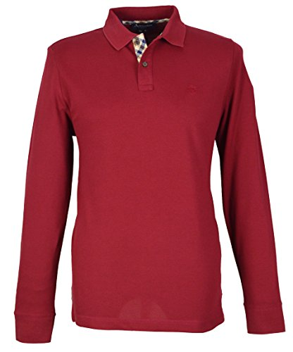 aquascutum-t-shirt-manches-longues-homme-rouge-red-rouge-medium